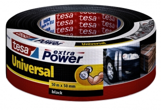 , Plakband Tesa 50mmx50m extra power zwart