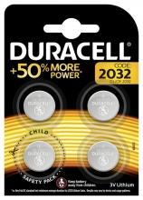 , Batterij Duracell knoopcel 4xCR2032 lithium Ø20mm 3V-180mAh