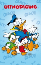 SET Donald Duck Uitnodiging Pk658 6x3,95