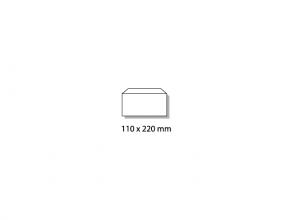 , dienstenvelop Raadhuis 110x220mm DL (EA5/6) wit gegomd doos a 500 stuks