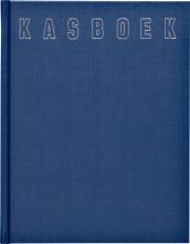 , Kasboek 165x210mm 192blz 1 kolom blauw