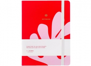, A-Journal Notitieboek - Arty - Roze Rood