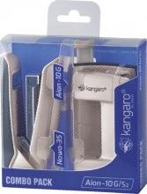 , Perforator Nietmachine Kangaro combo pack ivoor
