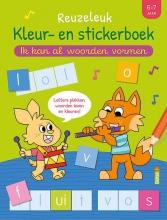 , Reuzeleuk kleur- en stickerboek - Ik kan al woorden vormen (6-7 j.)