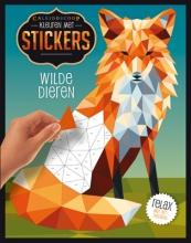Kleuren met stickers Wilde dieren