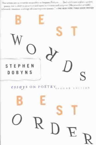 S. Dobyns,Best Words, Best Order