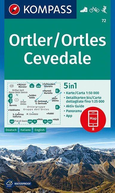 ,Ortler/Ortles, Cevedale 1 : 50 000