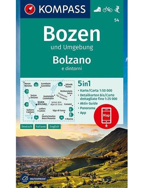 Kompass-Karten Gmbh,Bozen und Umgebung, Bolzano e dintorni 1:50 000