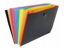 ,Documententas Viquel Rainbow Class ® 8 vaks met             elastieksluiting zwart