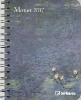 ,<b>Monet 2017 Buchkalender/Diary Deluxe</b>