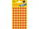 ,Etiket Avery Zweckform 3147 rond 12mm lichtrood 270stuks
