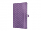 ,notitieboek Sigel Jolie Flair A5 hardcover gelinieerd paars