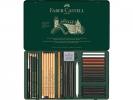 <b>Pitt Monochrome set Faber Castell 33-delig groot</b>,