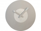,Wandklok Nextime dia. 39.5 cm, hout, zilver, `In touch`