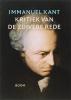 <b>Immanuel Kant</b>,Kritiek van de zuivere rede