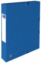 , Elastobox Oxford Top File+ A4 40mm blauw