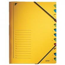 , Sorteermap Leitz 3912 12-delig karton geel