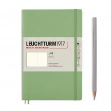 Lt363935 , Leuchtturm notitieboek softcover 19x12.5 cm blanco sage
