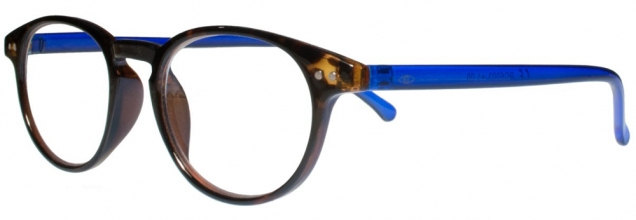 Rce003 , Leesbril icon demi with reflex blue temples 3.00