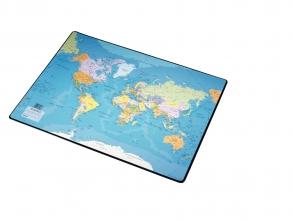 , Onderlegger Esselte 40x53cm met wereldkaart Nederlands