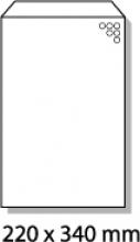 , luchtkussenenvelop Raadhuis 220x340mm F16 wit plakstrip     doos a 100 stuks