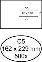 , Envelop Quantore 162x229mm venster 4x11cm rechts zelfkl 500s