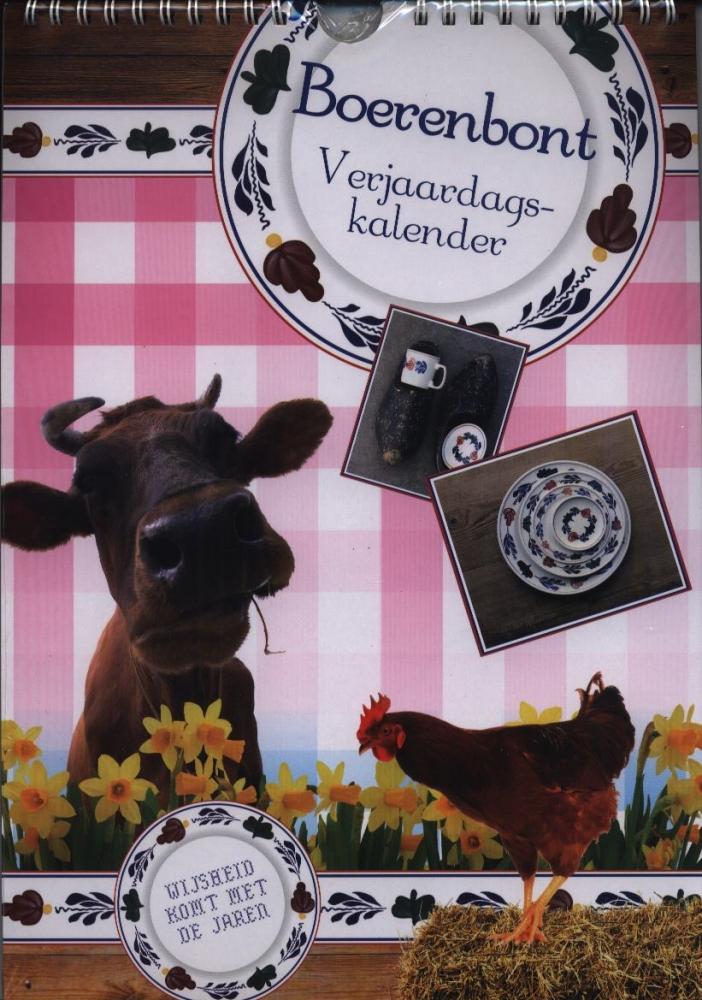 ,Boerenbont verjaardagskalender (a4)
