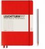 <b>Lt332933</b>,Leuchtturm notitieboek medium 145x210 lijn rood