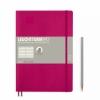 <b>Lt355282</b>,Leuchtturm notitieboek composition softcover 178x254 mm lijn berry