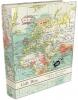 , Boekensteun cadeau set - vintage map