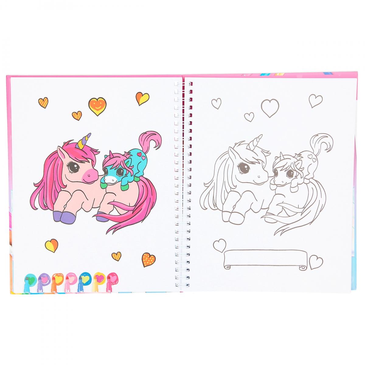 ,Ylvi kleurboek met viltstiften