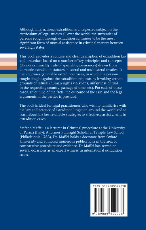 Stefano Maffei,Extradition law and practice