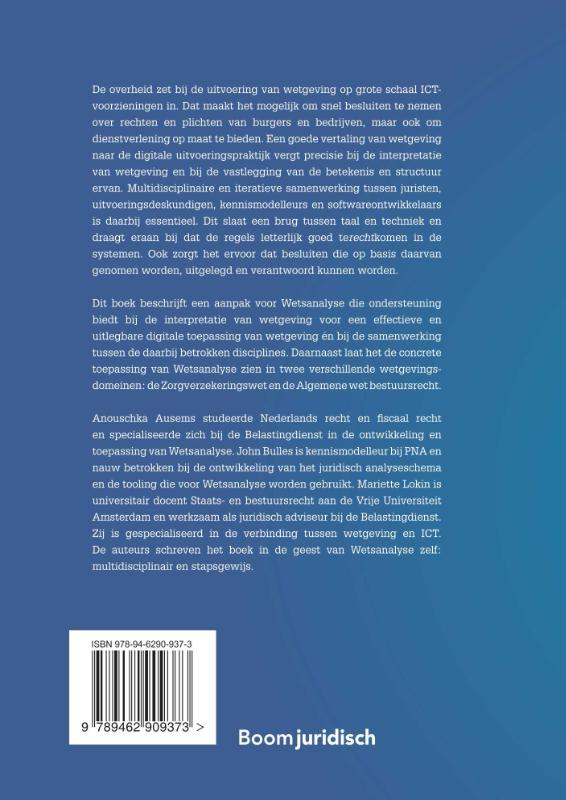 Anouschka Ausems, John Bulles, Mariette Lokin,Wetsanalyse