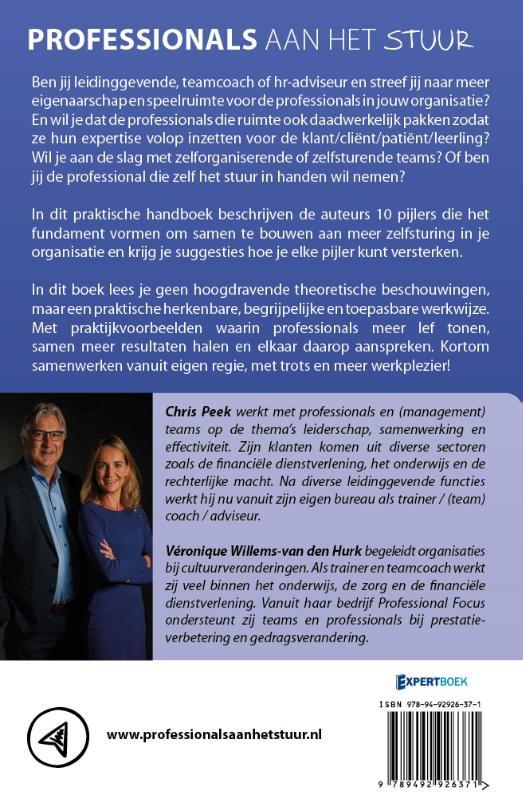 Chris Peek, Véronique Willems,Professionals aan het stuur
