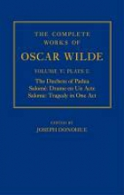 Donohue, Joseph The Complete Works of Oscar Wilde: Volume 5: Plays 1