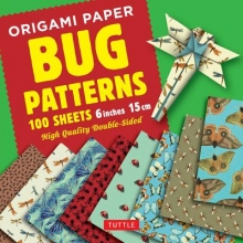 Origami Paper Bug Patterns - 6 Inch 15 Cm