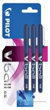 , Rollerpen PILOT V-Ball grip V5 blauw 0.3mm blister à 3 stuks