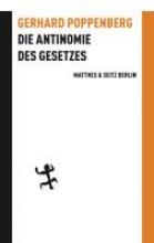 Poppenberg, Gerhard Die Antinomie des Gesetzes