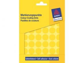 , Etiket Avery Zweckform rond 18mm geel