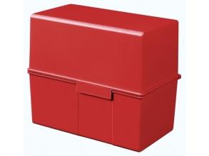 , kaartenbak HAN breed A6 kunststof rood