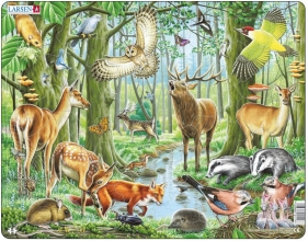 Larsen puzzel- Wilde dieren in het bos- FH17