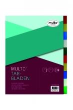 , Tabbladen Multo A4 23-gaats 10-delig PP assorti