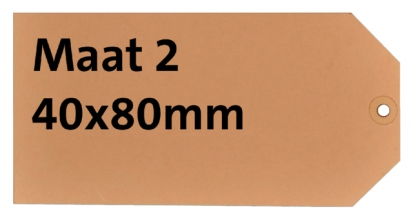 , Label karton nr2 200gr 40x80mm chamois 1000stuks