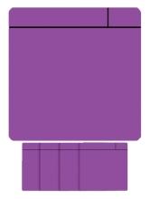 , Magneet scrum 75x75mm paars