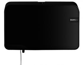 , Dispenser Euro Quartz toiletrolhouder duo zwart
