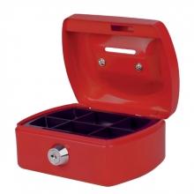 , Geldkist Pavo met gleuf 125x95x60mm rood