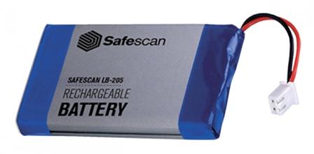 , Batterij oplaadbaar Safescan LB-205 voor MCS 6185