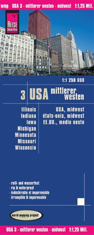 ,World Mapping Project USA 03. Mittlerer Westen 1 : 1 250 000