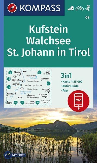 ,Kufstein, Walchsee, St. Johann in Tirol 1:25 000