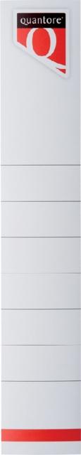 ,Rugetiket Quantore smal 34x190mm zelfklevend wit